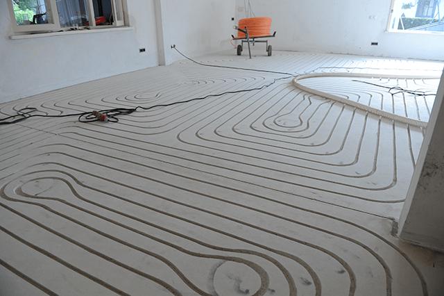 Vloerverwarming geïnstalleerd in Limbricht